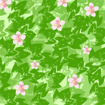 वॉटरकलर गर्मियों में हरे पत्ते की फूल पृष्ठभूमि सामग्री , गर्मी, फूल, गुलाबी पृष्ठभूमि छवि