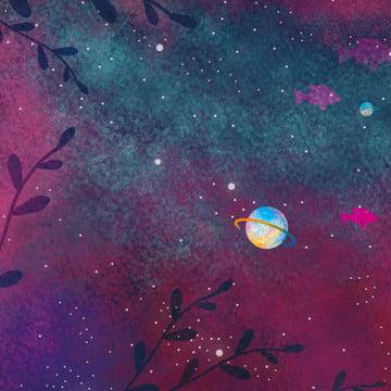 जल रंग प्रौद्योगिकी रात आकाश चंद्रमा पानी के नीचे दुनिया पृष्ठभूमि डिजाइन , रंग, मछली, पानी के नीचे की दुनिया पृष्ठभूमि छवि