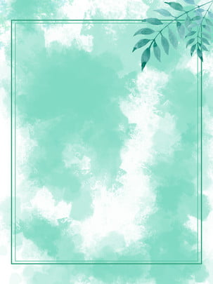 watercolor wind green summer background , Watercolor, Green, Summer Background image