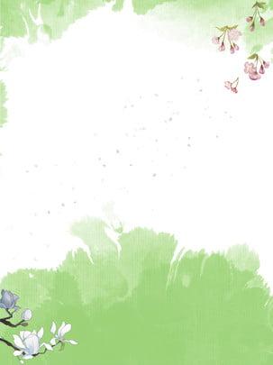 수양 벚꽃 목련 녹색 핑크 블루 , 수양 체리, 목련, 핑크색 배경 이미지