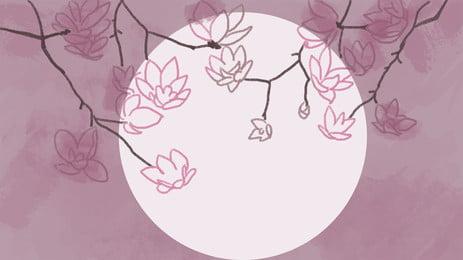 mực trắng tròn màu nước nền thanh lịch, Trắng, Trăng Tròn, Màu Hồng Ảnh nền