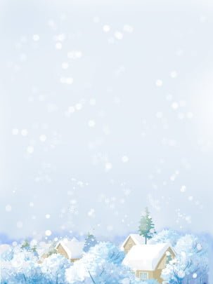 winter beautiful snow scene illustration , Winter, Beautiful, Romantic Background image