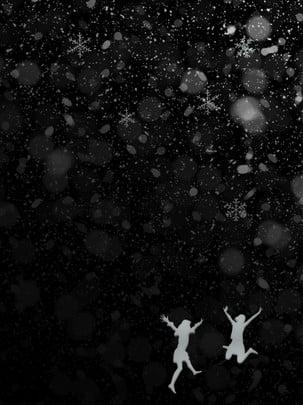 Cô gái bông tuyết mùa đông trắng đen Mùa đông Bông Hình Nền