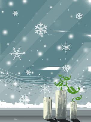winter snowflake window glass vase snow scene , Winter, Snowflake, Window Background image