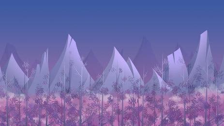 woods far mountain gute nacht hintergrundmaterial, Gute Nacht Hintergrund, Wald, Farbiger Hintergrund Hintergrundbild