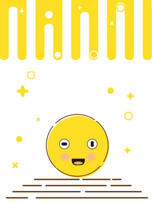 黃色可愛卡通mbe背景 , 黃色, 可愛, 卡通 背景圖片