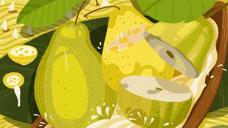 ying ji runfei fruit yellow pear publicidad de fondo, Fruta De Temporada, Pera De Fruta, Fondo Amarillo Imagen de fondo