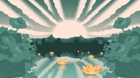 zhongyuan महोत्सव कमल तालाब दीपक पृष्ठभूमि सामग्री, कमल का दीपक, कमल का तालाब, मध्य शरद ऋतु समारोह पृष्ठभूमि पृष्ठभूमि छवि