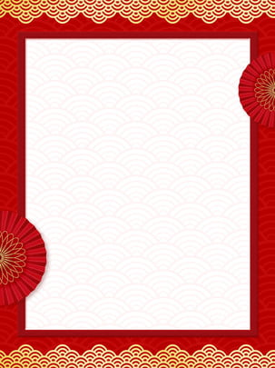 2019 new year red border festive background , Chinese Style, European Border, Golden Border Background image