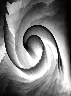 3d抽象漩渦黑白背景 , 3d黑白, 3d抽象, 漩渦 背景圖片