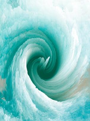 3d抽象漩渦青綠色背景 , 3d立體, 3d漩渦, 3d背景 背景圖片