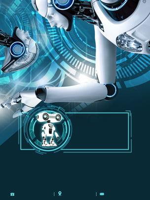 उन्नत स्मार्ट रोबोट विज्ञापन पृष्ठभूमि , विज्ञापन की पृष्ठभूमि, रोबोट, हाथ खींचा हुआ पृष्ठभूमि छवि