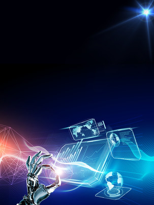 artificial intelligence future technology background , Artificial Intelligence, Fantasy Technology, Geometric Dream Background image