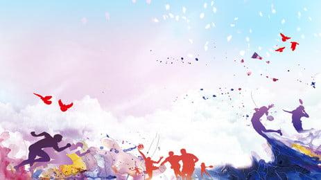 reka bentuk latar belakang tema permainan asia, Latar Belakang Yang Berwarna-warni, Latar Belakang Sukan Asia, Latar Belakang Papan Paparan imej latar belakang