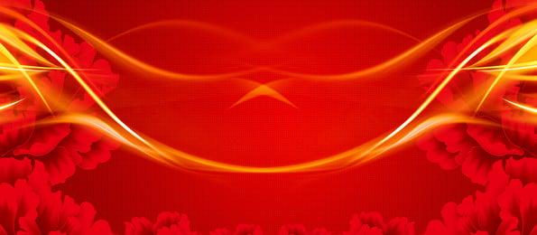 वायुमंडल भव्य उद्घाटन लाल पृष्ठभूमि, क्रिएटिव, कुसुम, लाल पृष्ठभूमि छवि