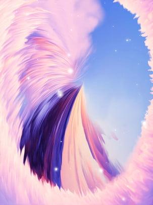 không khí 3d cô gái màu hồng mơ màng quanh gian núi nền , Tóm Tắt Nền, Không Gian Nền, Nền Màu Hồng 3d Ảnh nền