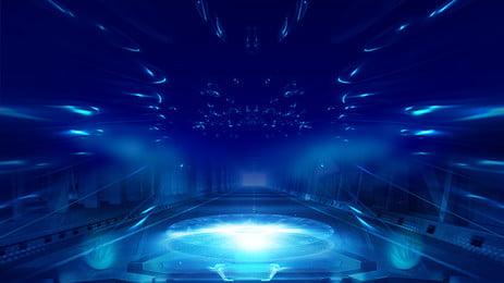 वायुमंडलीय शांत नीली प्रौद्योगिकी पृष्ठभूमि, रंग की पृष्ठभूमि, आमंत्रित पृष्ठभूमि, सामान्य पृष्ठभूमि पृष्ठभूमि छवि