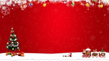 赤いクリスマスカーニバルの背景デザイン, おめでたい, 大気の背景, 展示板 背景画像