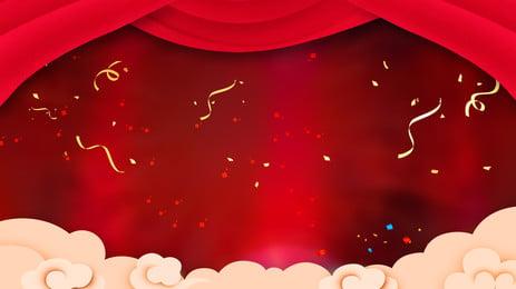 대기 빨간색 추수 감사절 사업 배경, 분위기, 빨간색 배경, 축제 배경 배경 이미지