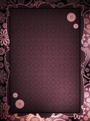 Atmospheric retro purple european pattern border background , Purple European Border Background, Pattern Background, Vintage Background Background image