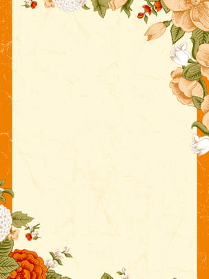 autumn painted flowers background material , Flower, Fall, Autumn Background image