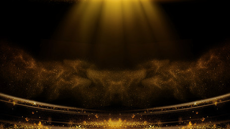 Award ceremony black gold style background material, Award Background, Awards Party, Awards Ceremony Background image