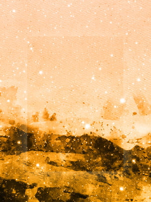 Beautiful and simple dreamy golden ink watercolor background , Simple, Style, Dream Background image