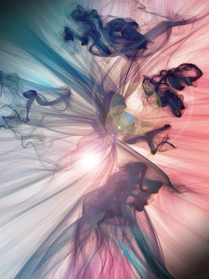Beautiful Color Smoke Dreamy Background Poster, Beautiful, Color, Smoke, Background image