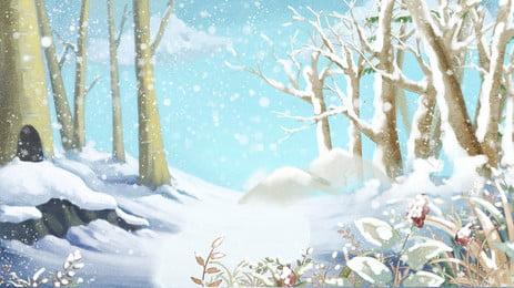 thiết kế tuyết rừng đẹp, Đẹp, Mùa đông, Nền Mùa đông Ảnh nền