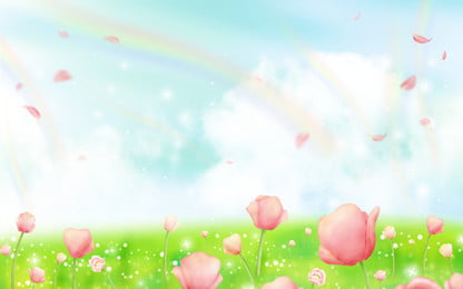 Beautiful Fresh Spring Meadow Flowers Background Design, Hand Painted Background, Beautiful, Fresh, Background image