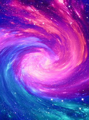 सुंदर रेखा भंवर मुड़ तारों वाली आसमानी काल्पनिक नदी की पृष्ठभूमि , सरल शैली, सुंदर, सपना पृष्ठभूमि छवि