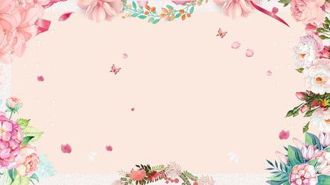 美しい花びら植物の結婚式の背景デザイン ピンク 美しい 植物の背景 背景画像