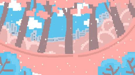 Thiết kế nền rừng pixelated đẹp Màu Xanh Đẹp Hình Nền