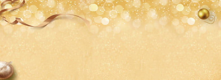 beautiful romantic golden jewelry banner background, Golden Sphere, Small Golden Ball, Gold Ribbon Background image