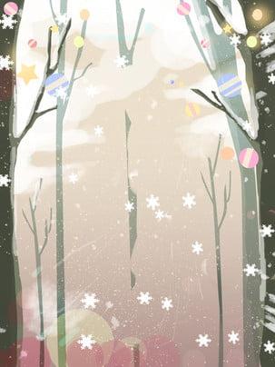 nền bài hát Giáng sinh tuyết tươi mát nhỏ 唯美 Ông Già Hình Nền