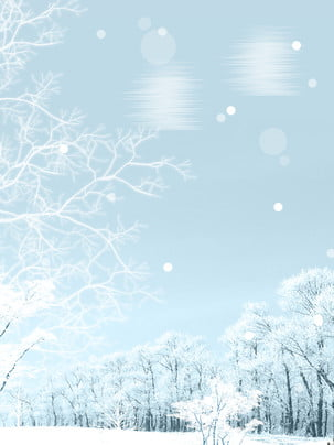 beautiful winter moon snow forest background material , Beautiful, Winter Month, Snow Background image