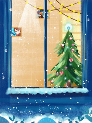 beautiful winter solstice christmas eve background , Santa Claus, Christmas Gifts, Christmas Background image