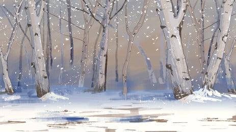 Đông chí tiết thiết kế nền tuyết trong rừng, Tuyết Rơi, Mùa Đông., Đông Chí Nền Ảnh nền