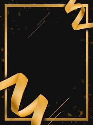 black annuity ribbon nền cao cấp , Đen Năm Mới, Ban Nhạc Vàng, Lá Vàng Ảnh nền