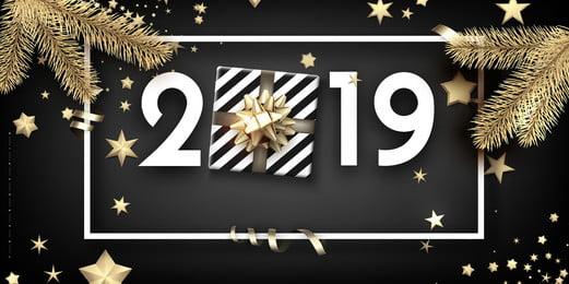 काले सोने का माहौल 2019 क्रिसमस की पृष्ठभूमि डिजाइन, काला सोना, वातावरण, उच्च अंत पृष्ठभूमि छवि