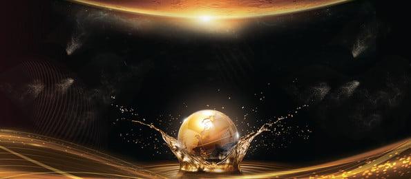 ब्लैक गोल्ड वातावरण प्रौद्योगिकी बोर्ड पृष्ठभूमि, काली सोने की हवा, काले सोने की पृष्ठभूमि, वातावरण पृष्ठभूमि छवि
