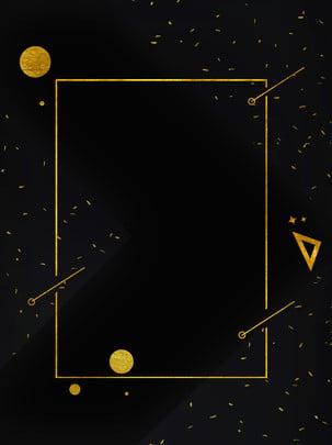 Gió vàng sáng tạo biên giới thiết kế poster hình học Gió vàng đen Nền đen Nền Vàng Hình Nền
