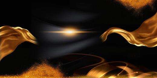 bahan emas hitam yang domineering latar belakang, Angin Emas Hitam, Domineering, Upacara Anugerah imej latar belakang