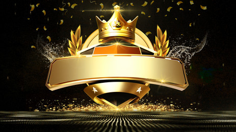 Black golden crown award ceremony background material, Company Annual Meeting, Fashion Atmosphere, Awards Ceremony Background image