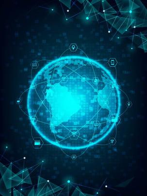 blue bright technology world geometry , Công Nghệ, Trái đất, Ánh Sáng Ảnh nền