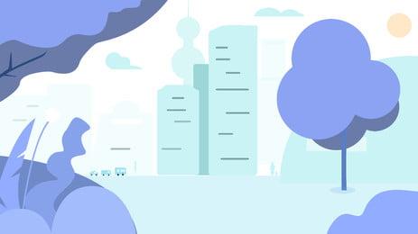 blue tòa nhà cao tầng nền hoạt hình, Màu Xanh, Thành Phố, Nhà Cao Tầng Ảnh nền