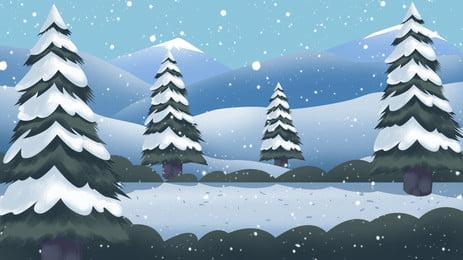 Phim hoạt hình nền xanh gió cây thông Giáng sinh Trung Quốc Phong Hình Nền
