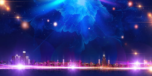 Blue Colorful Annual Meeting Stage Background Material, Stage Background, Annual Meeting Background, Blue Purple, Background image