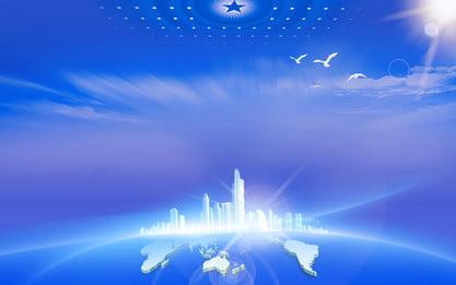 ブルーコンストラクション新時代展覧会, 展示会ボード, 青い背景, 十九 背景画像