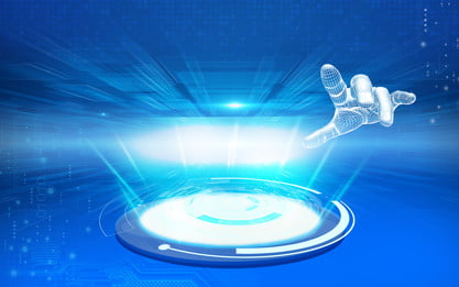 Синий будущий фон технологии искусственного интеллекта, Наука и технологии, интеллектуальный, Трехмерный Фоновый рисунок